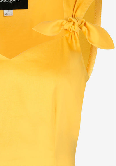 Cindy Double Bow Yellow Toppi-Collectif-Miss Windy Shop