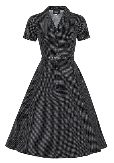 Caterina Black Mini Polka Dot Vintage Paitamekko (Ennakkotilaustuote)-Collectif-Miss Windy Shop