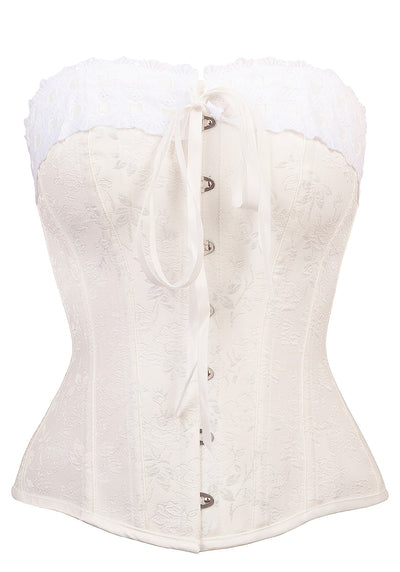 Ivory Overbust With Lace Korsetti-Corset Story-Miss Windy Shop
