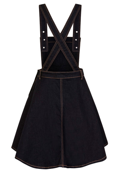 Dakota Pinafore Navy Lappuhame-Hell Bunny-Miss Windy Shop