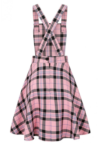 Dalston Pinafore Pink Lappuhame-Hell Bunny-Miss Windy Shop