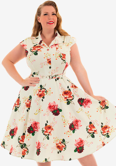 Delilah Floral Paitamekko-Hearts & Roses London-Miss Windy Shop