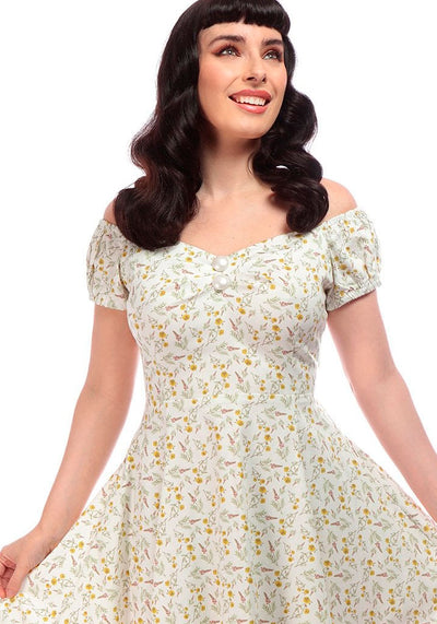 Dolores Doll Field Floral Kellomekko-Collectif-Miss Windy Shop
