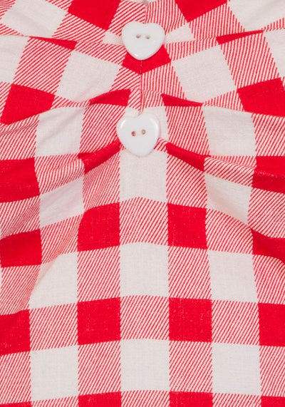 Dolores Red Gingham Top