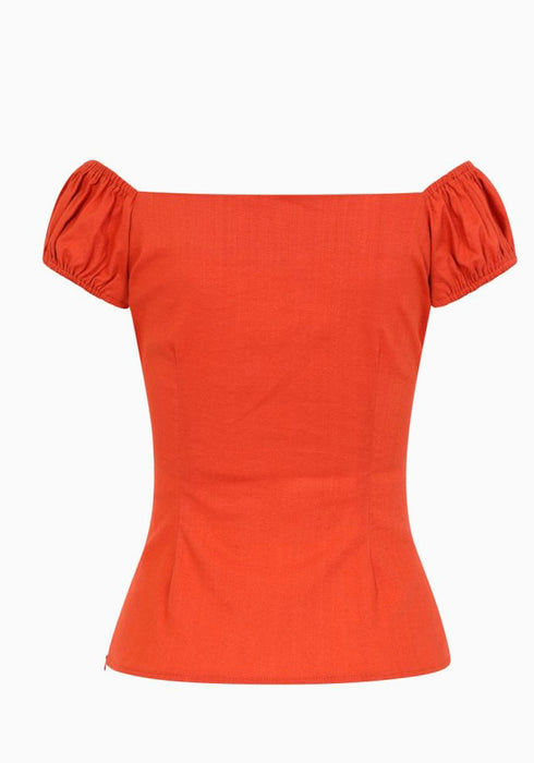 Dolores Burnt Orange Top
