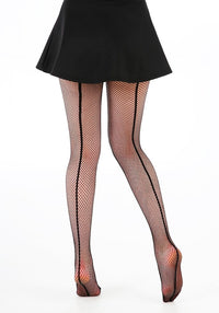 Fishnet Seamed Black Verkkosukkahousut