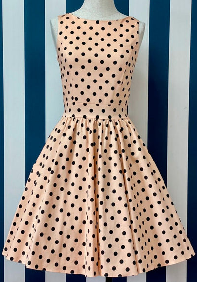 Tea Alsean Polka Dot Kellomekko-Lady Vintage-Miss Windy Shop