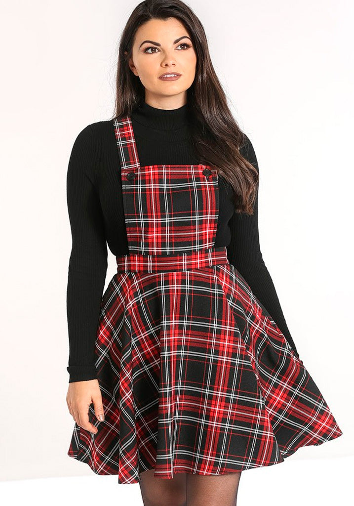 Islay Pinafore Red Lappuhame (Ennakkotilaustuote)-Hell Bunny-Miss Windy Shop