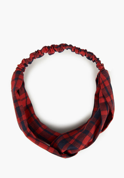 Jeannie Red Tartan Hiuspanta-Collectif-Miss Windy Shop