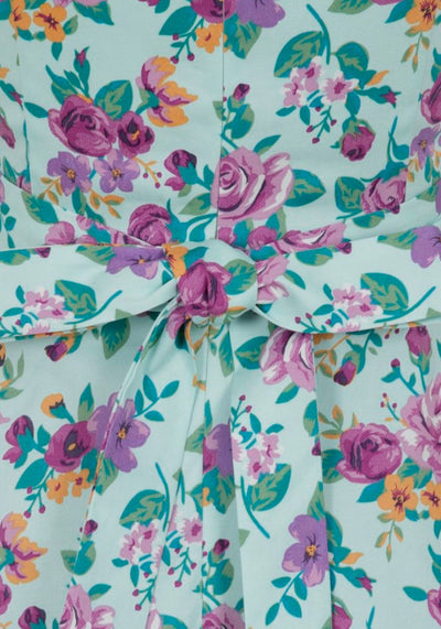 Keyhole Day Flowers In Duck Egg Blue Vintagemekko-Lady Vintage-Miss Windy Shop