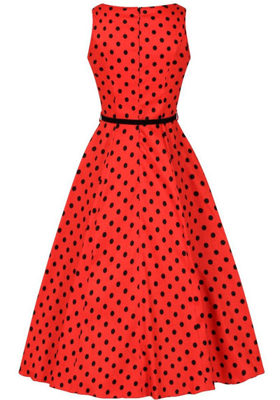 Hepburn Lady Bird Polka Dot Kellomekko (Ennakkotilaustuote)-Lady Vintage-Miss Windy Shop