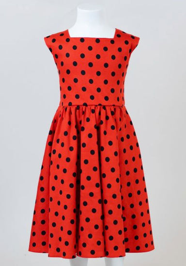 Lady Bird Polka Dot Swing Lasten mekko