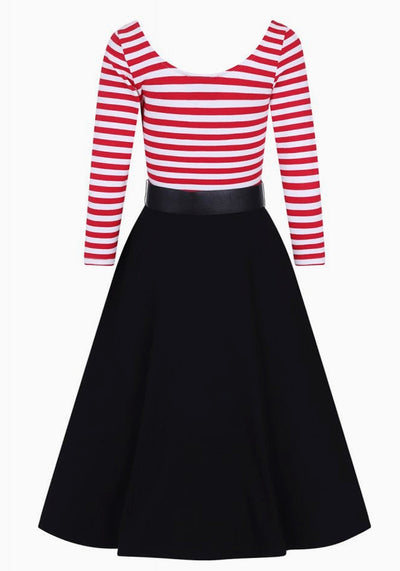 Manuela Red Striped Swing Kellomekko
