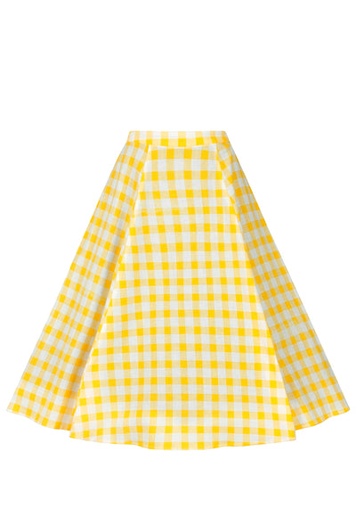 Matilde Yellow Gingham Kellohame (Ennakkotilaustuote)-Collectif-Miss Windy Shop