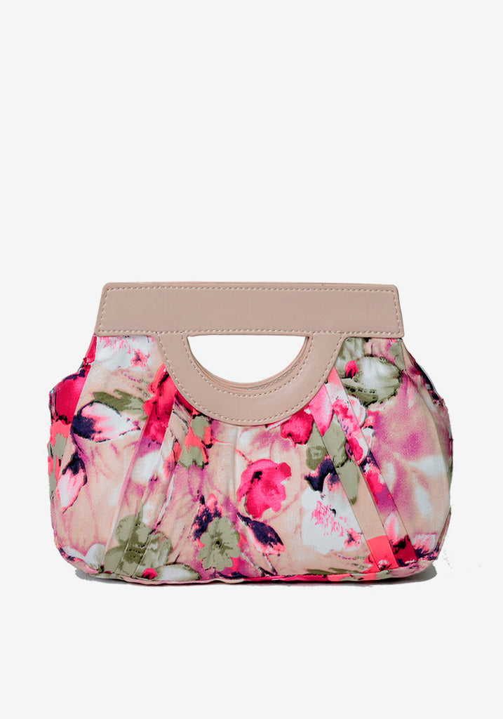 Pink Floral Clutch Käsilaukku-Hearts & Roses London-Miss Windy Shop