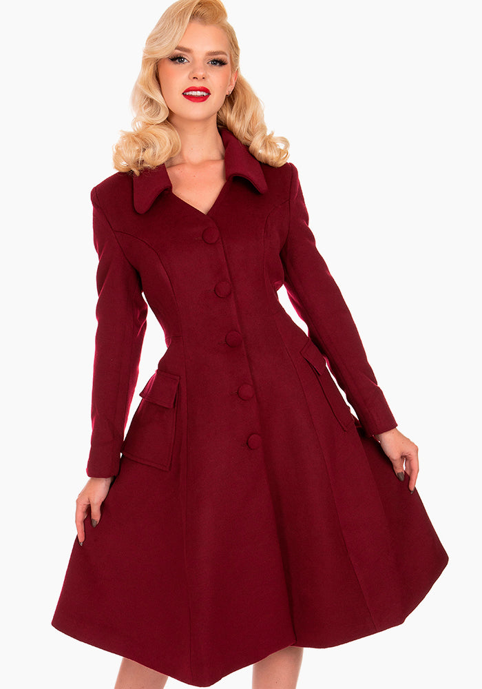Rosa Burgundy Swing Takki-Hearts & Roses London-Miss Windy Shop