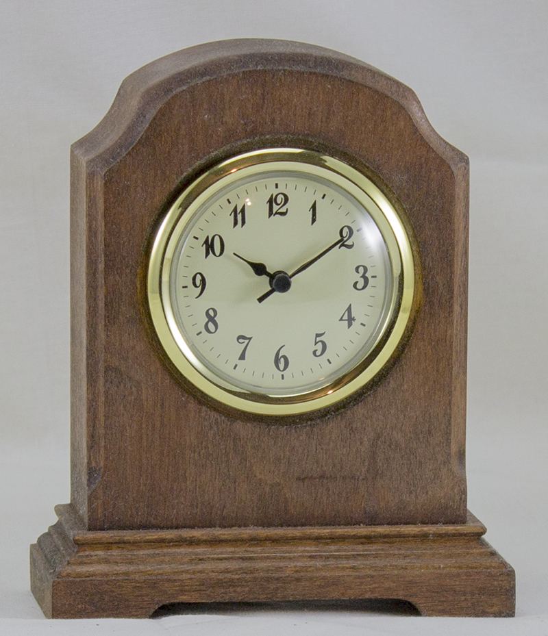 Desk Clock - William Arch Style - Walnut