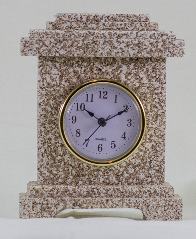 Desk Clock - Manhattan Style - Granite