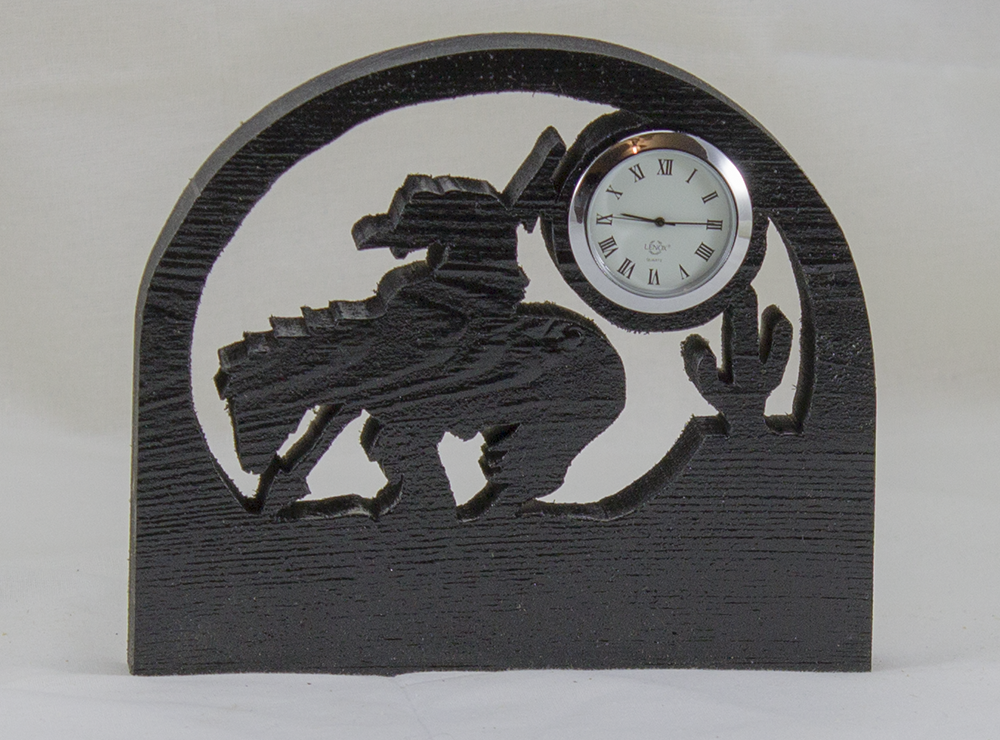 Desk Clock - End of the Trail Silhouette