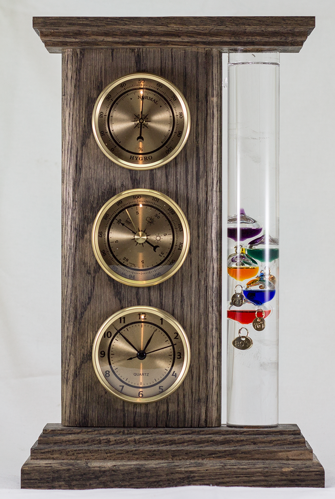 Highlander Weather Station with Clock - Gold Indicators