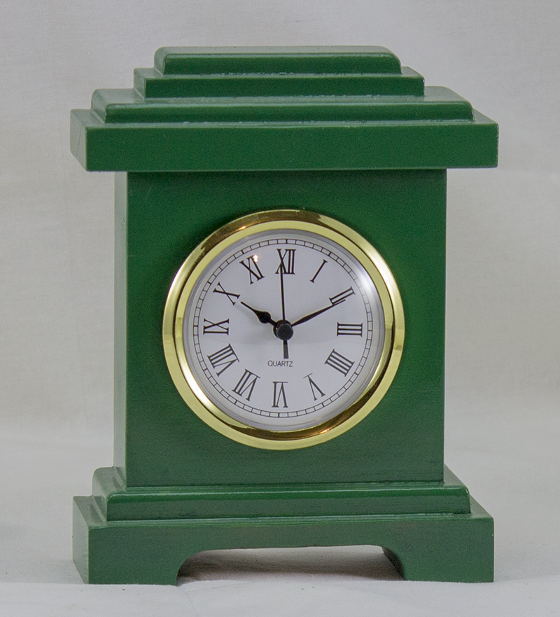 Desk Clock - Manhattan Style - Green