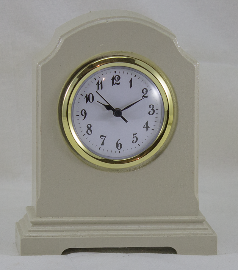 Desk Clock - William Arch Style - Cream