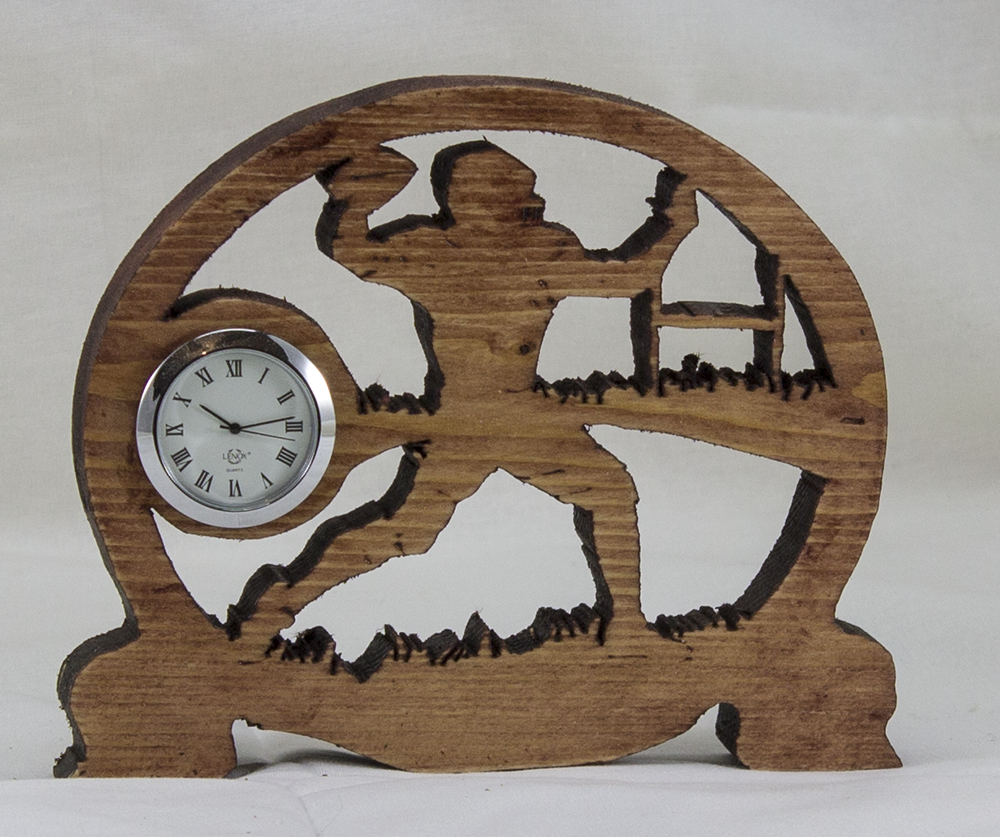 Scroll Art - Football Desk Clock