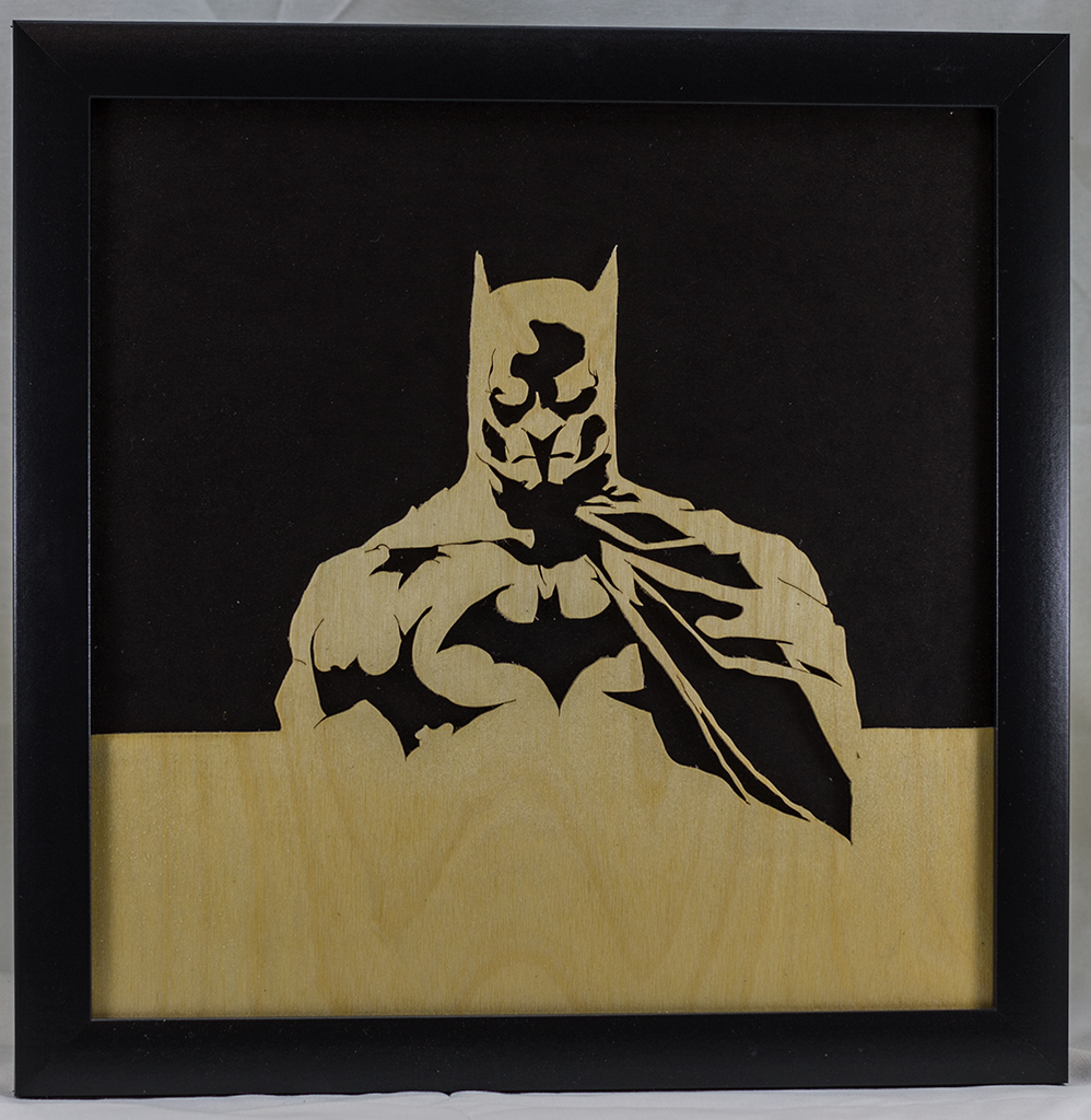 Scroll Art - Batman Under Glass