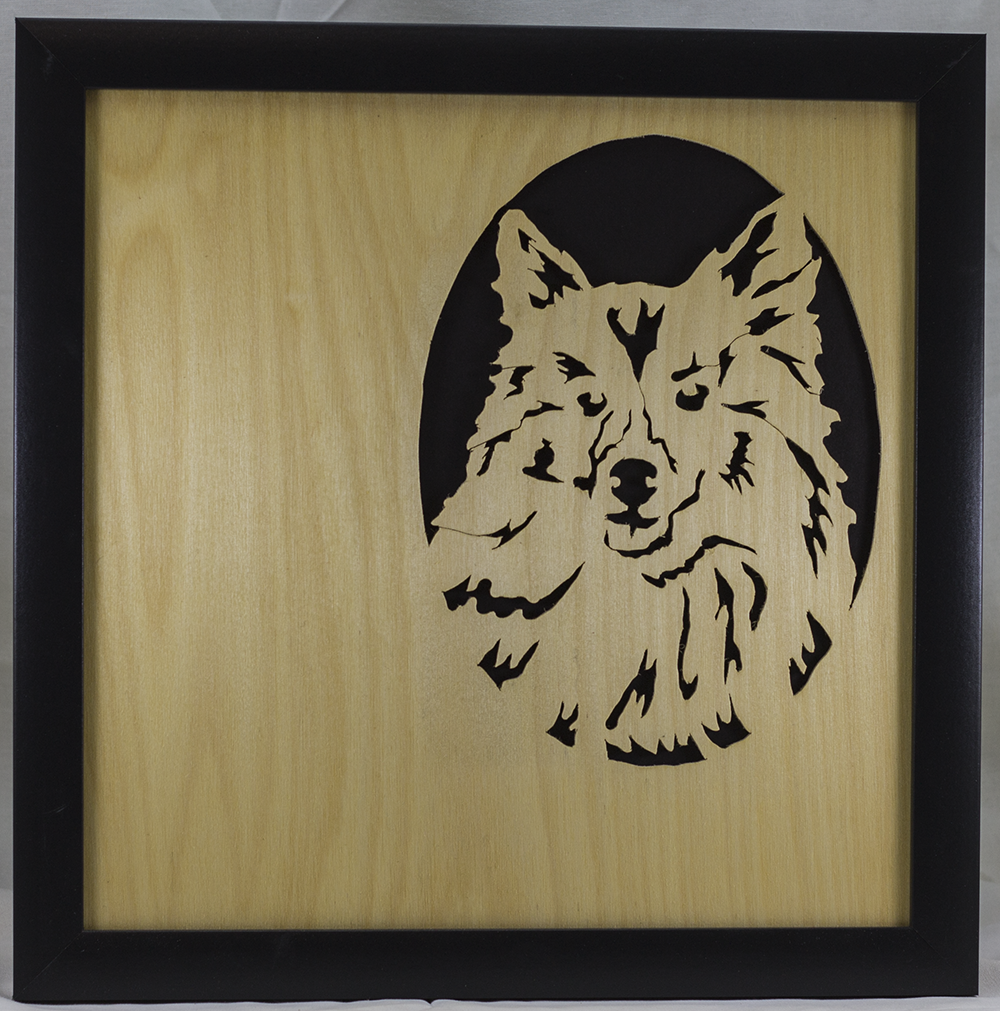 Scroll Art - Pomeranian Dog