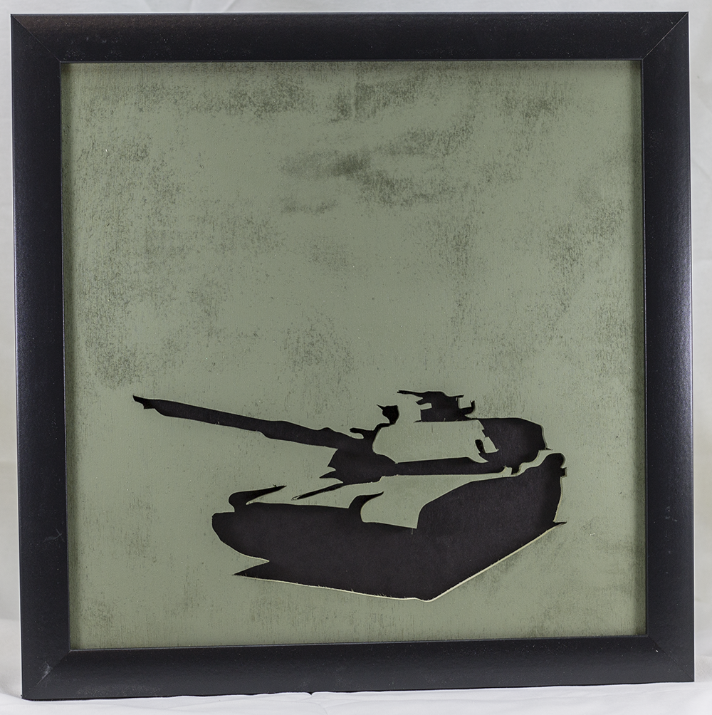 Scroll Art - M1 Abrams Tank