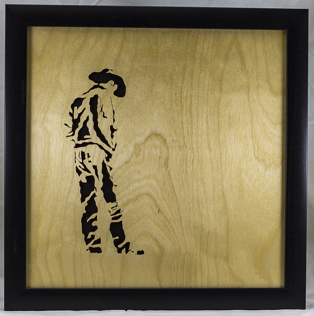 Scroll Art - Cowboy Kick'n Dirt