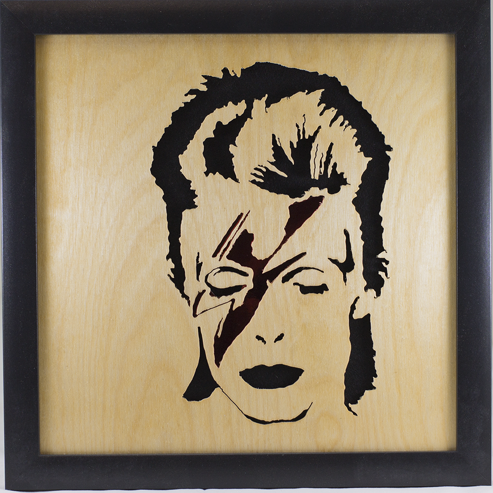 Scroll Art - David Bowie - Spiders from Mars