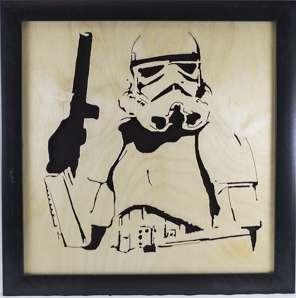 Scroll Art - Storm Trooper