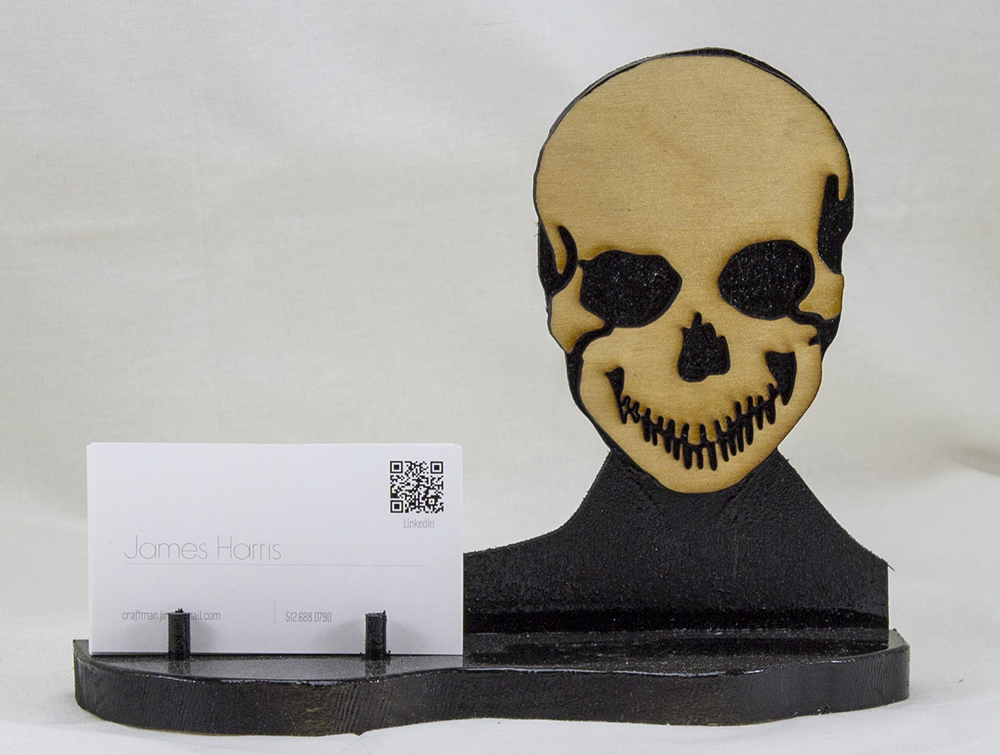 Skull Business Card Holder