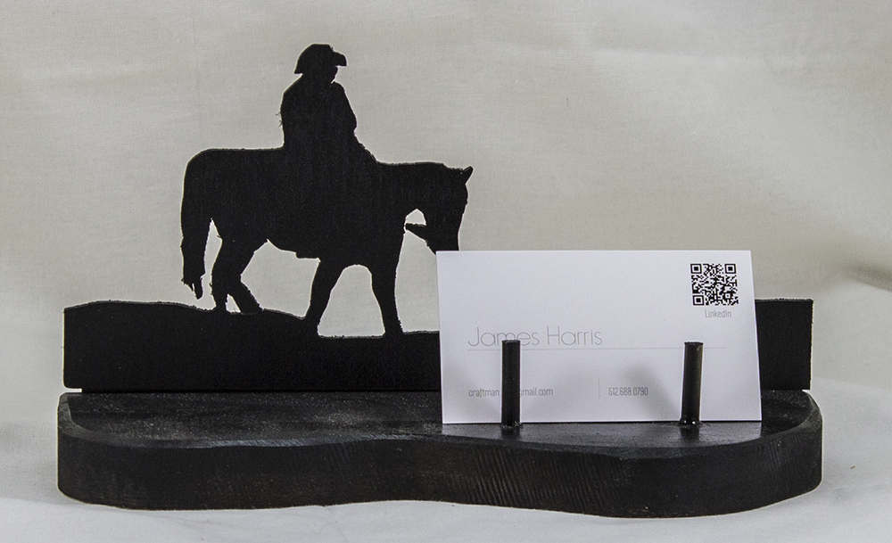 Cowboy and Horse Business Card Holder