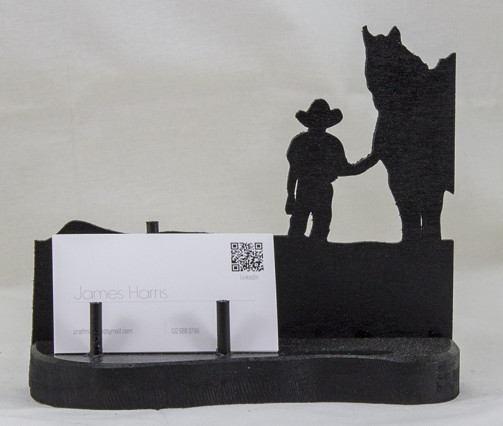 Young Cowboy and Horse Business Card Holder