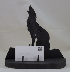 Wolf Silhouette Business Card Holder