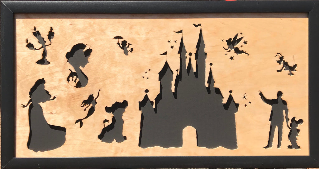 Scroll Art - Disney and His Magic Kingdom