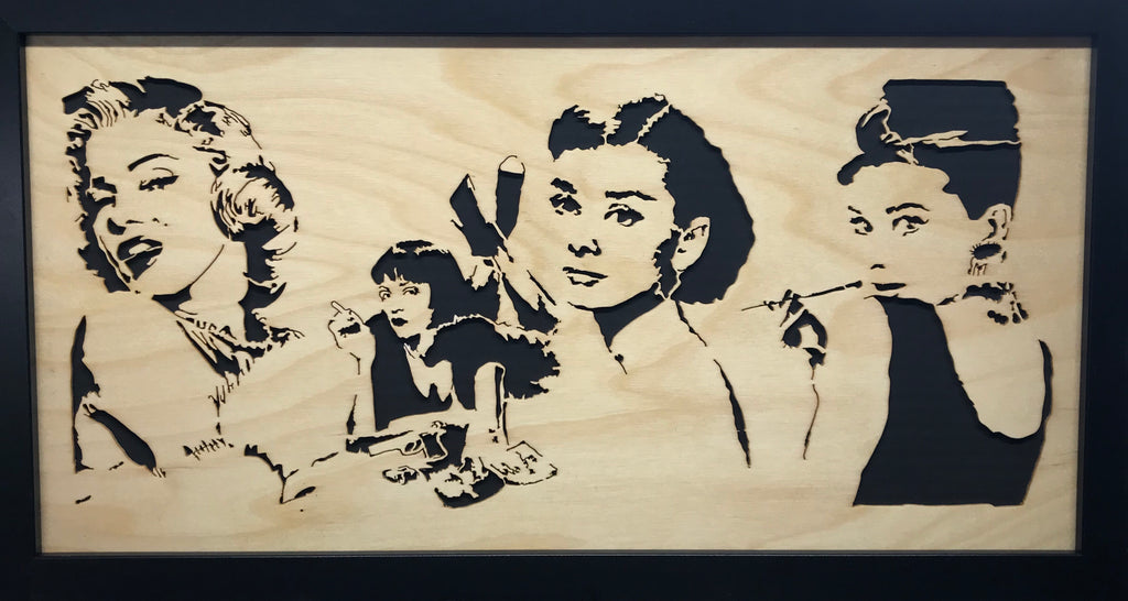 Ladies have Sand: Scroll Art