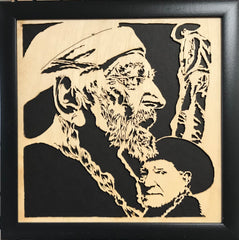 Scroll Art - Willie Nelson