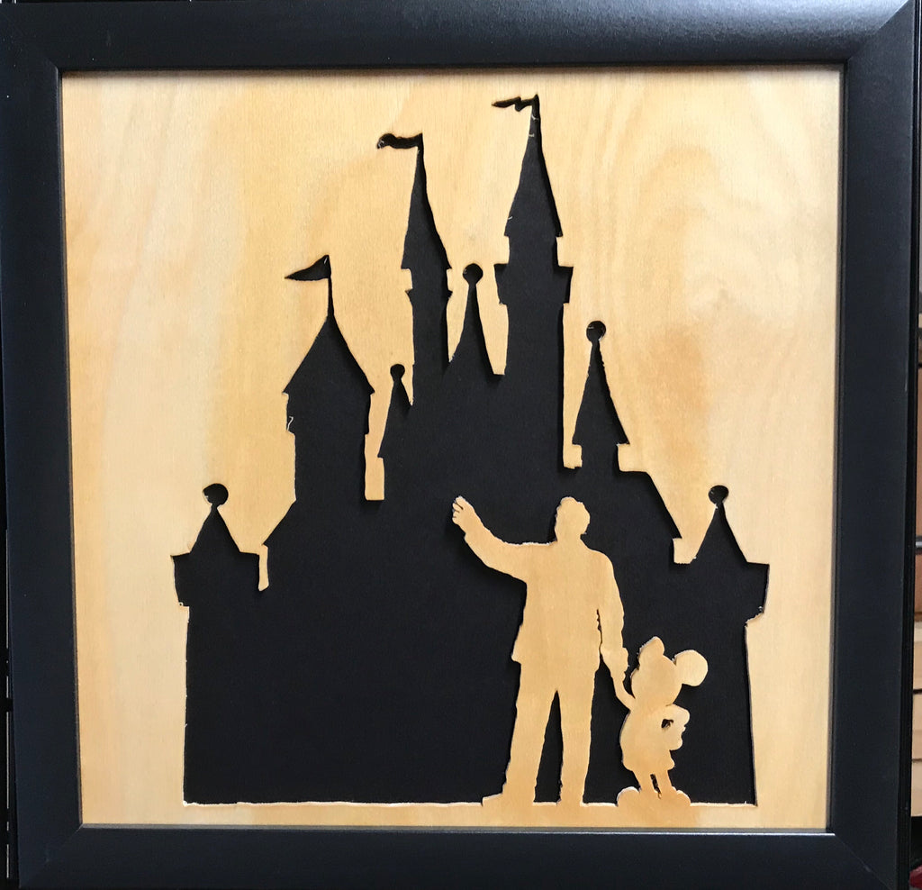 Scroll Art - Mickey - This is the Dream
