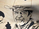 Scroll Art - John Wayne - American