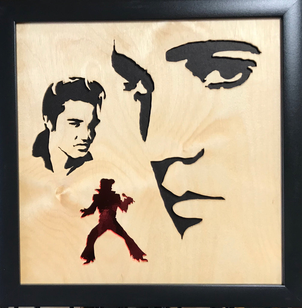 Scroll Art - Elvis is In The Building