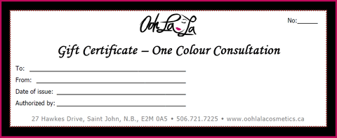 Gift Certificate- Colour Consultation