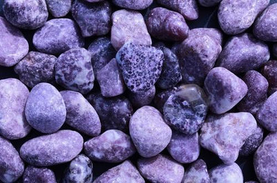 Natural Lepidolite Gemstones