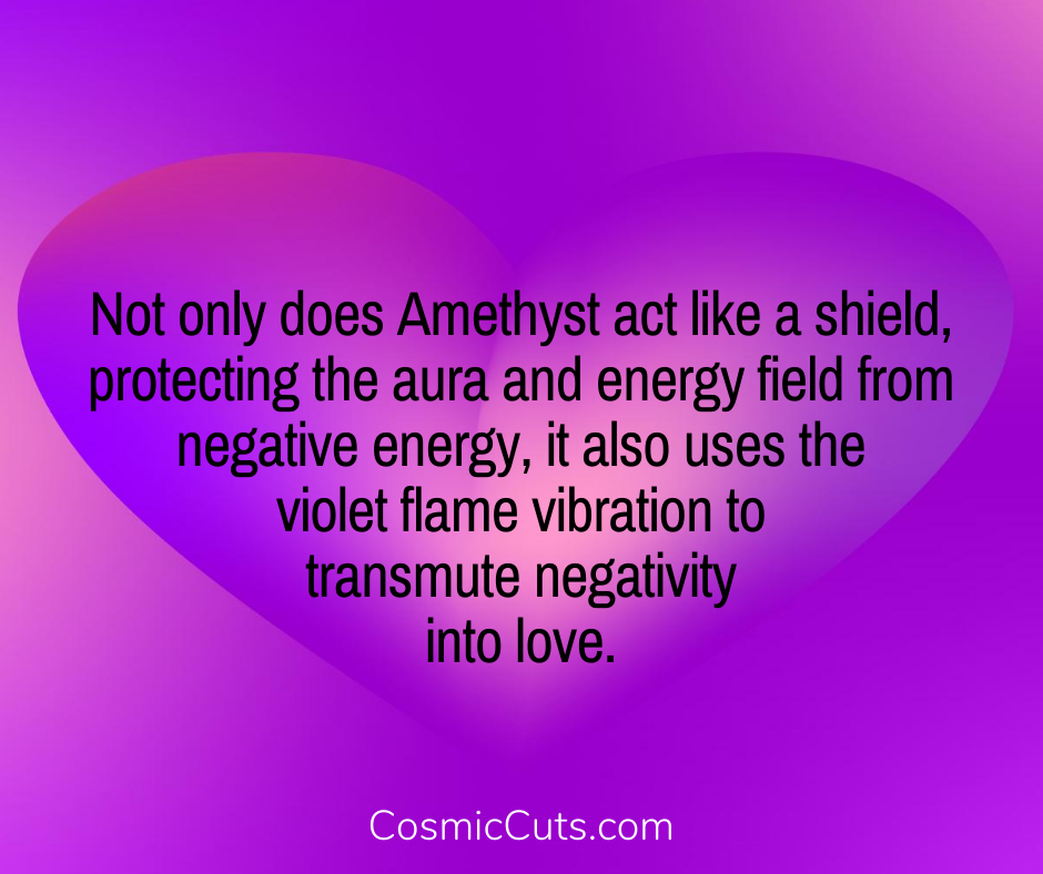 Amethyst Protection and Violet Flame