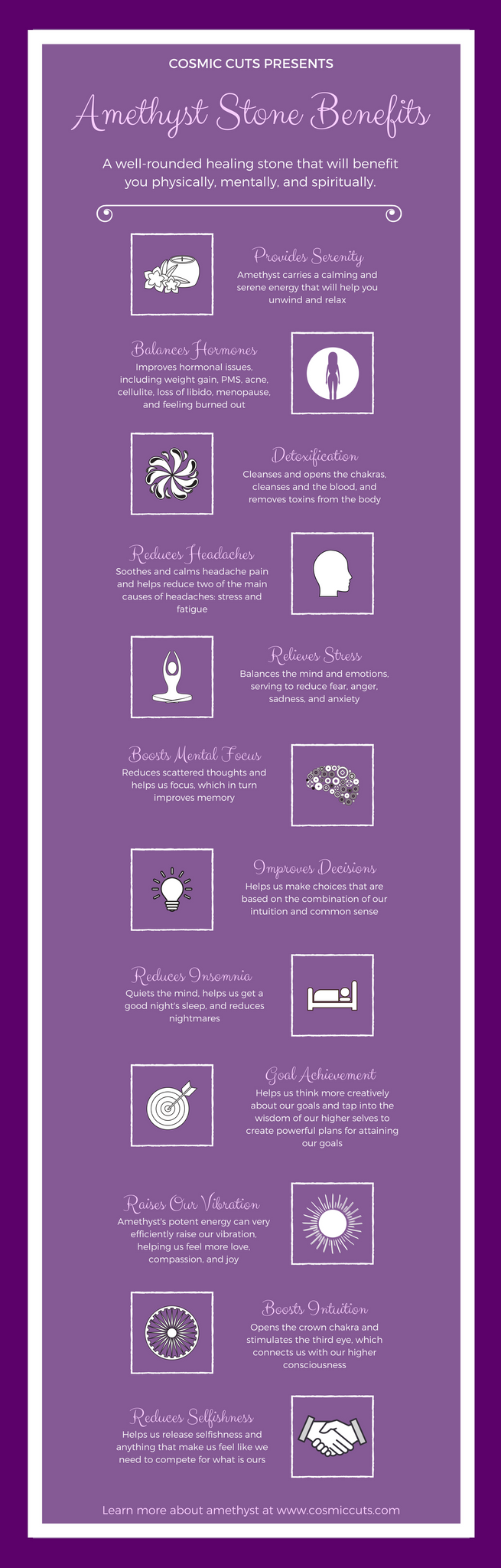 Amethyst Stone Benefits Infographic