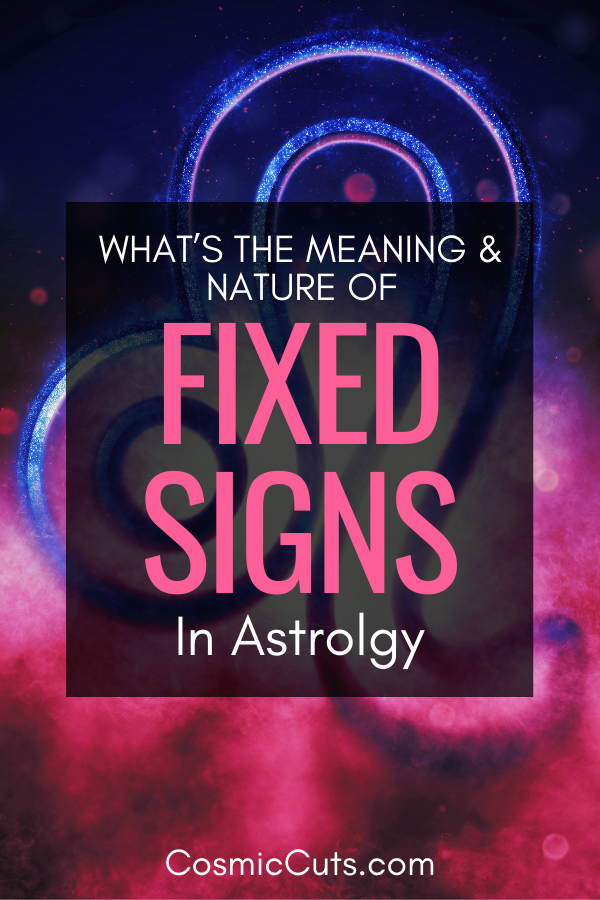 Astrology Fixed Signs