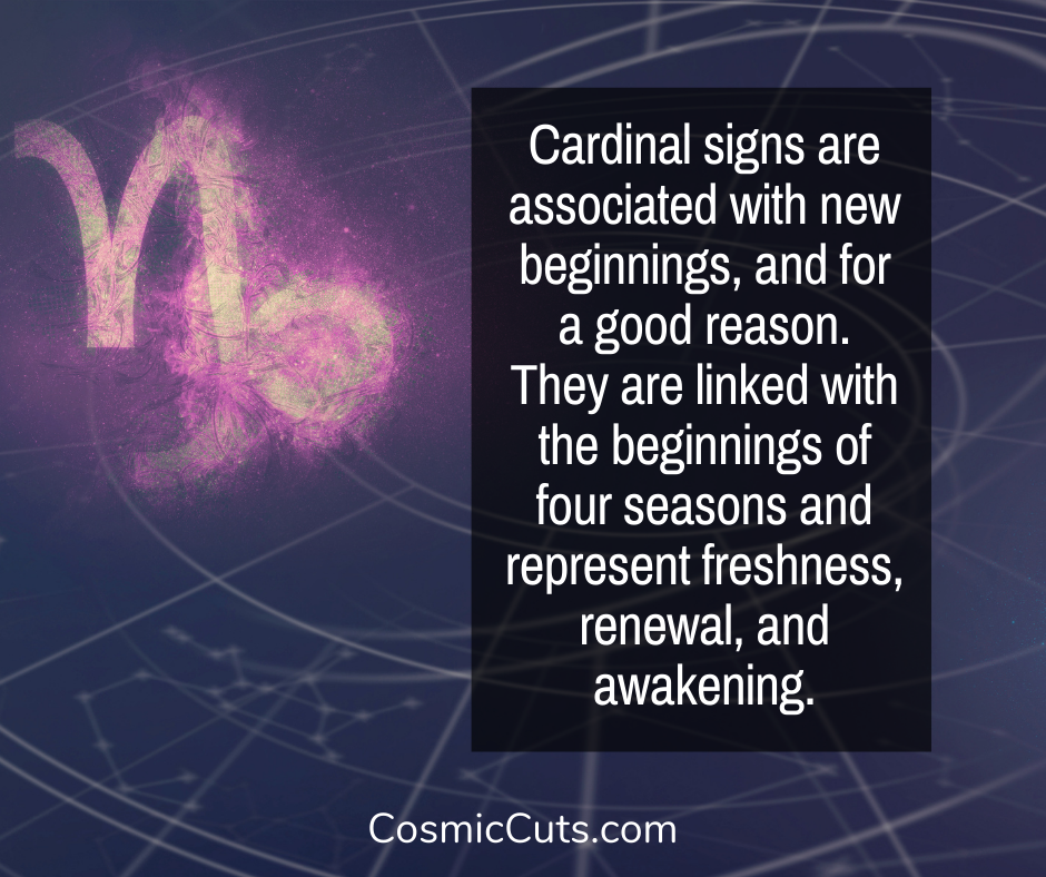 Cardinal Signs of the Zodiac