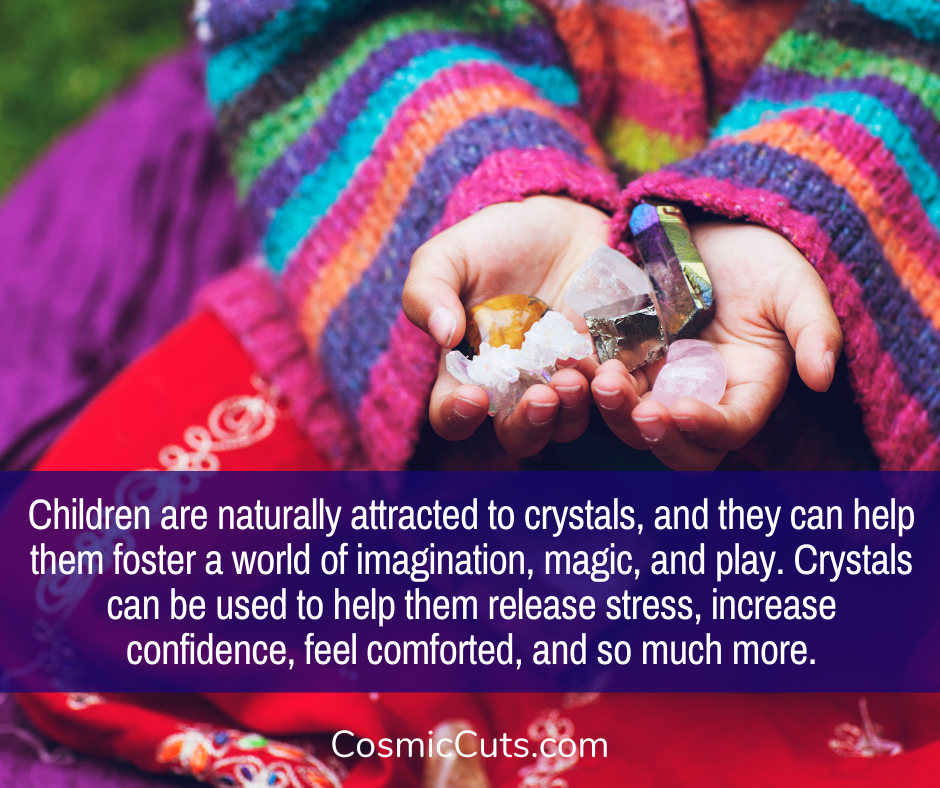 Children Using Crystals for Self Care
